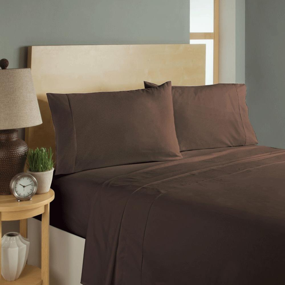 Simple Sheets Sleep Soft Bed Sheets Set   Brown
