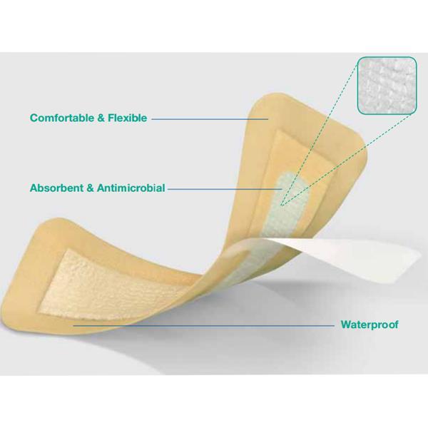 Convatec Aquacel Ag Hydrocolloid Hydrofiber Surgical Cover Dressing