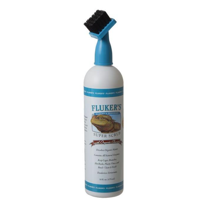 Flukers Super Scrub Brush with Organic Reptile Habitat Cleaner