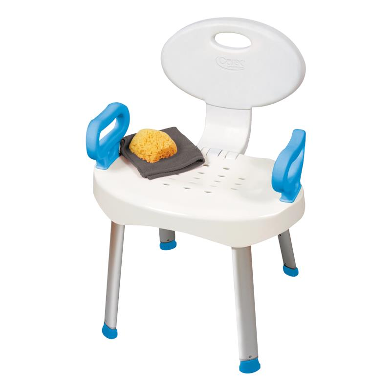 Carex Ez Bath And Shower Chair With Handles Shower