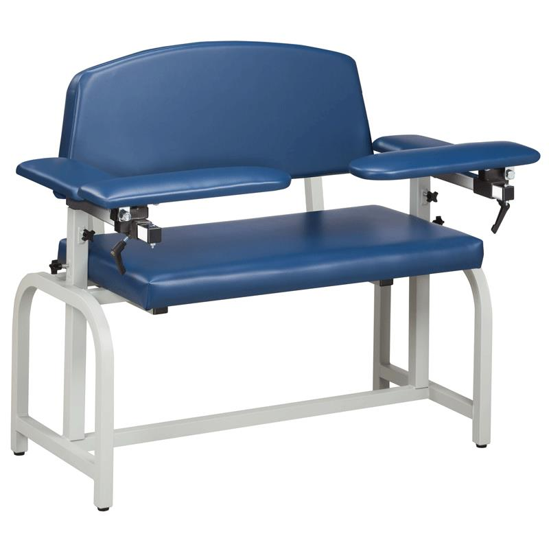 Incroyable Clinton Lab X Series Extra Wide Blood Drawing Chair With Padded Arms