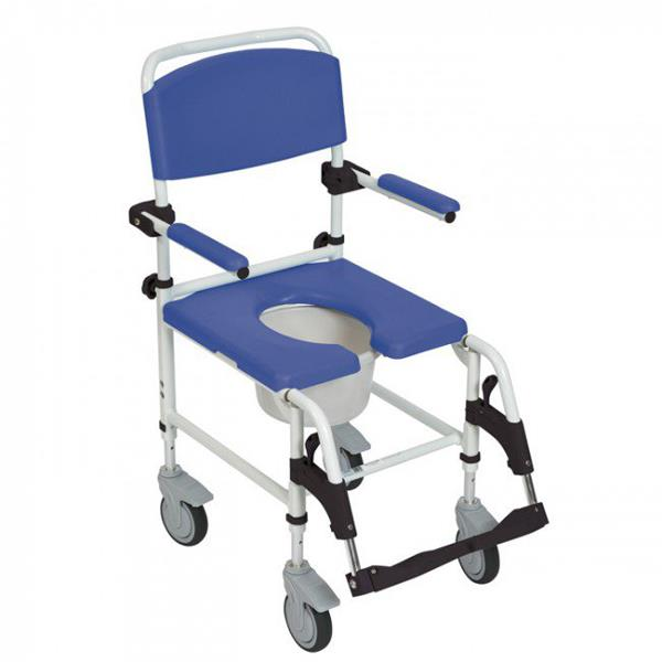 Drive Aluminum Rehab Shower Commode Chair Rolling Shower