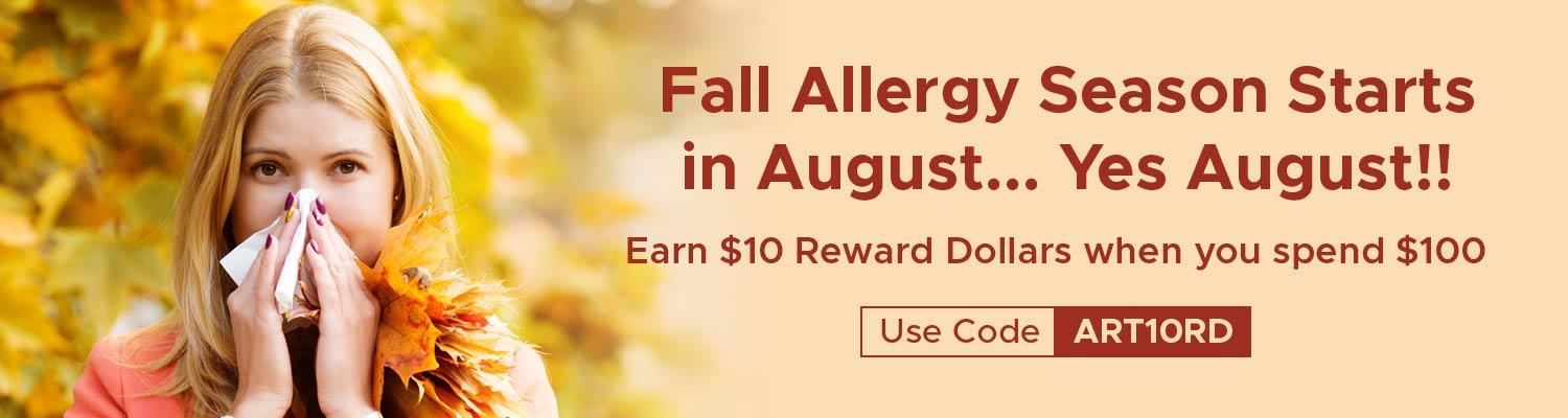 Fall Allergy Season Starts in August…Yes August!!