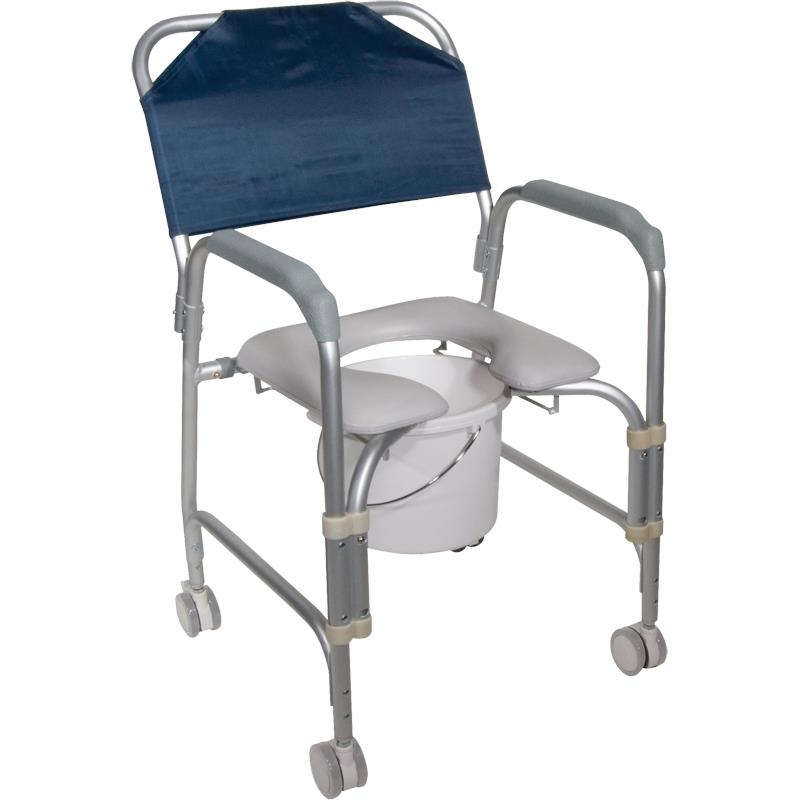 Drive Knock Down Aluminum Shower And Commode Chair With Casters  sc 1 st  Health Products For You & Drive Knock Down Aluminum Shower And Commode Chair With Casters ...