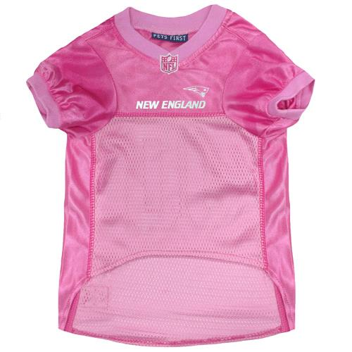 ... Pets First New England Patriots Pink Mesh Dog Jersey - Front View 1e12bad2e