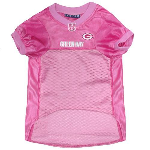 473c012fa ... Pets First Green Bay Packers Pink Mesh Dog Jersey - Screen Printed Logo  at Back
