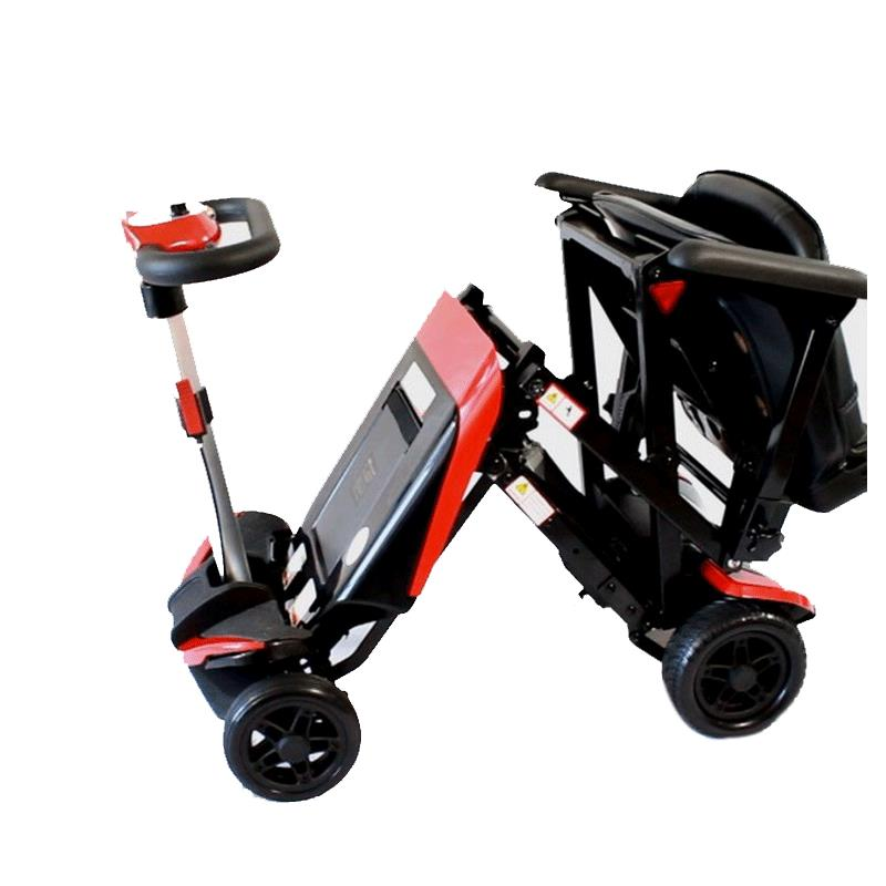 Solax transformer electric folding mobility scooter s3021 for Fold up scooters motorized