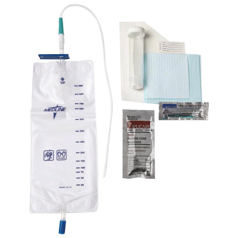 Medline Pre Connected Vinyl Intermittent Catheter Tray
