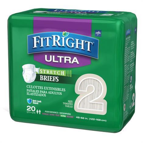 Medline Fitright Stretch Ultra Adult Briefs Tab Style Briefs
