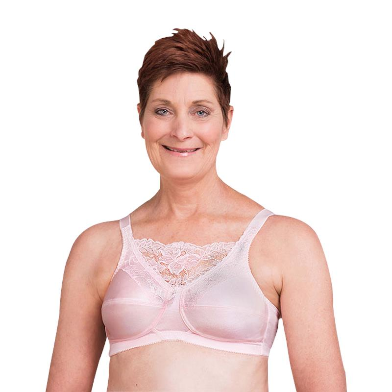 60fbe7a2242 Trulife 4019 Jessica Cami Style Lace Accent Mastectomy Bra