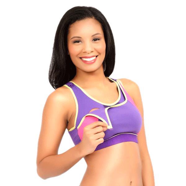 f8e0df26369bb ... La Leche League Serena Nursing Sports Bra-Purple ...