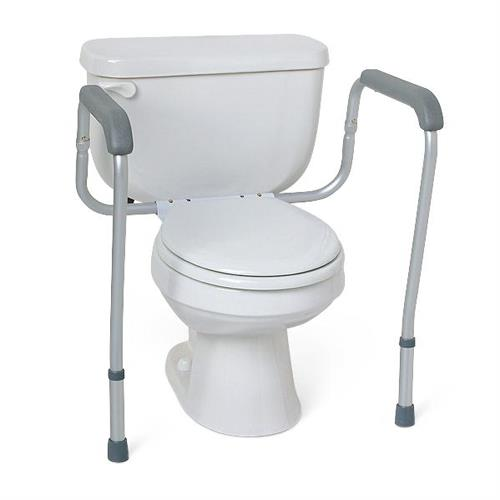 Medline Aluminum Foldable Toilet Safety Rail   Grab Bars and Safety ...