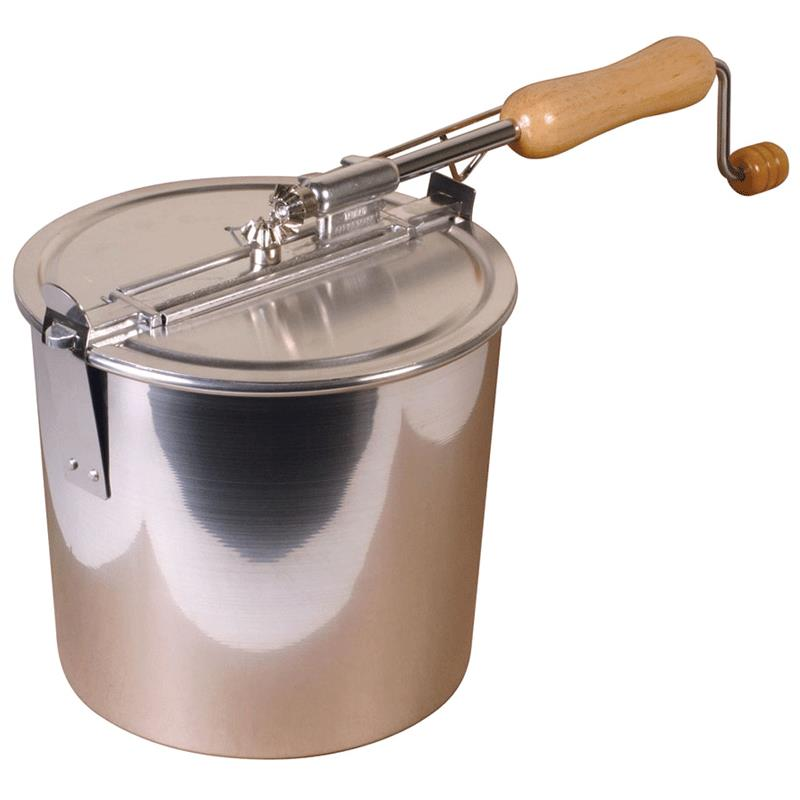 Hand Crank Kitchen Appliances: Frontier 4 Quart Hand Crank Popcorn Popper Pan