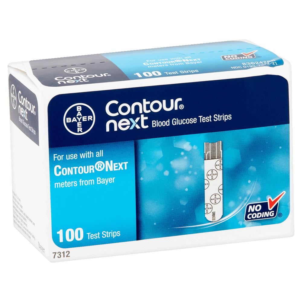 Bayer Contour Next Blood Glucose Test Strips Diabetic