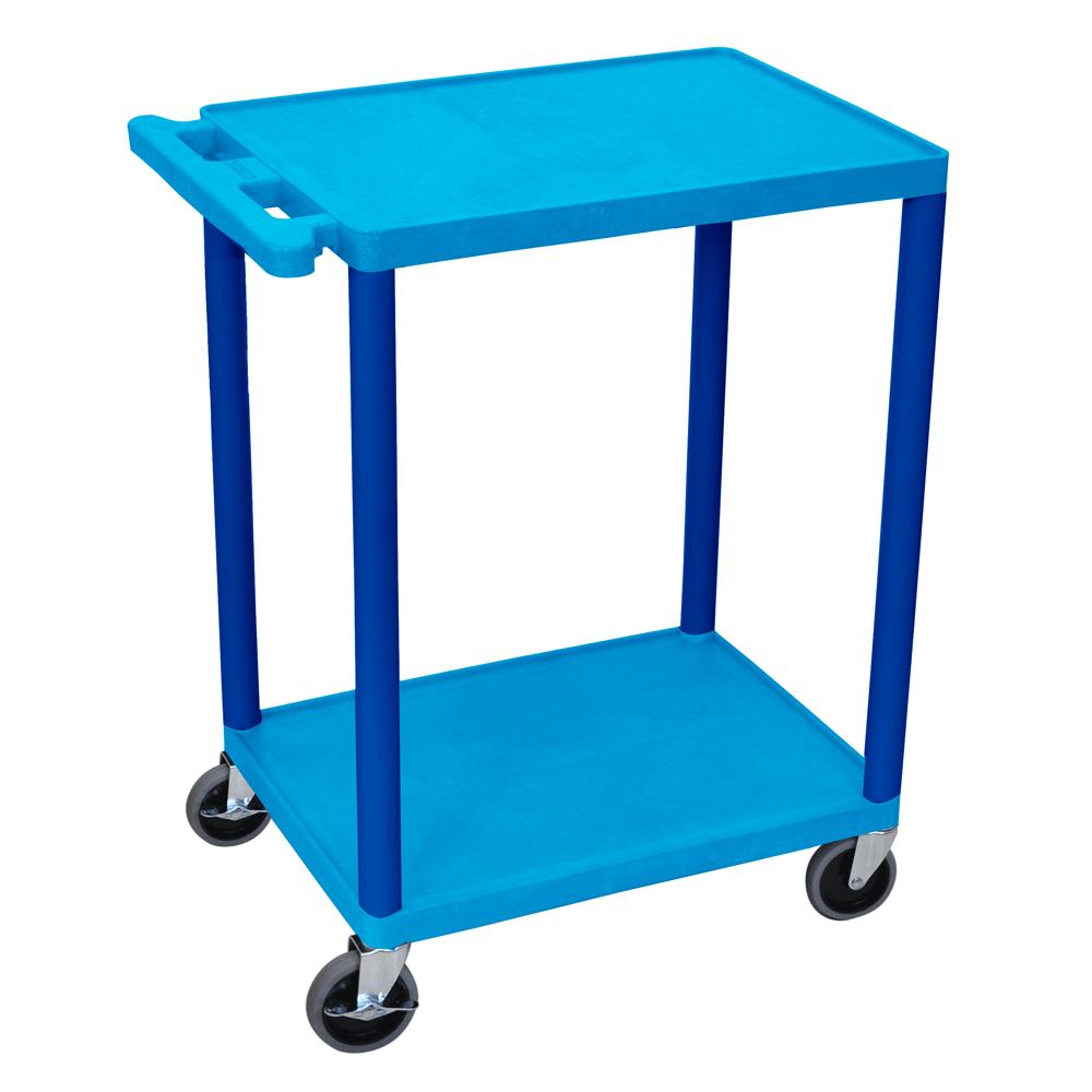 Luxor Two Shelves Utility Cart Medical Carts