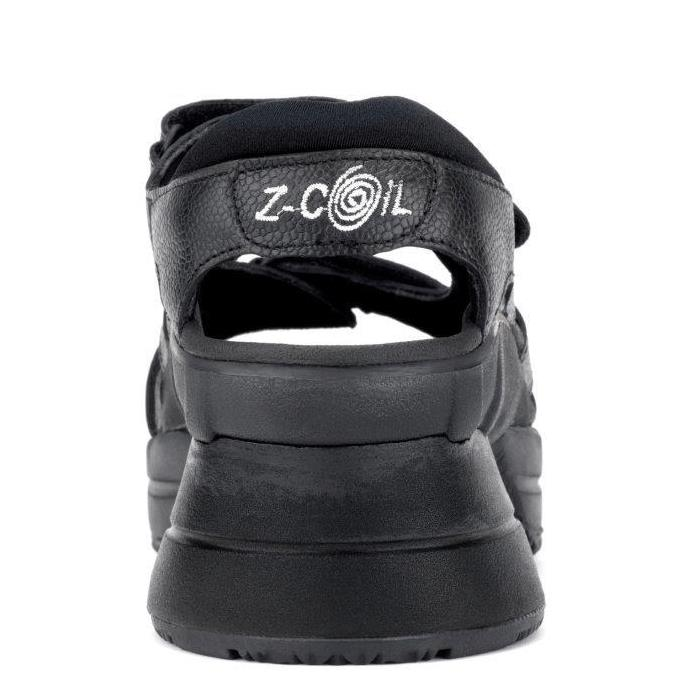 e89879b4d1 ... Z-Coil Pain Relief Footwear Sidewinder Sandal Covered Coil - Shoe Back  ...