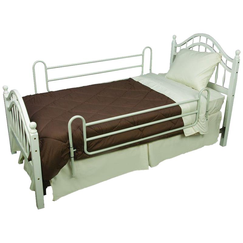 mabis dmi steel bed rails with steel cross bars side rail protection. Black Bedroom Furniture Sets. Home Design Ideas