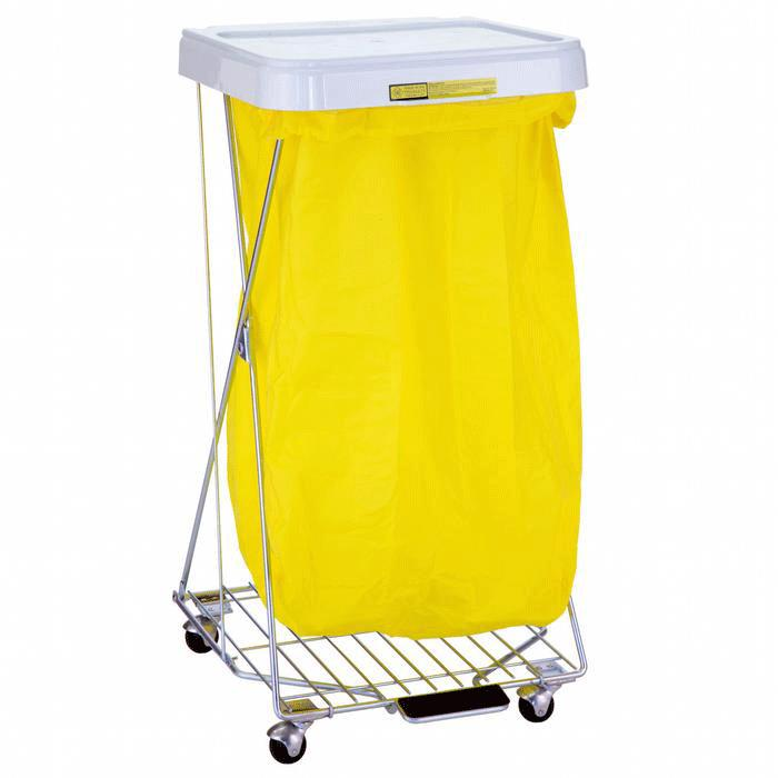 R Amp B Wire Hamper Stand With Foot Pedal Medical Hampers