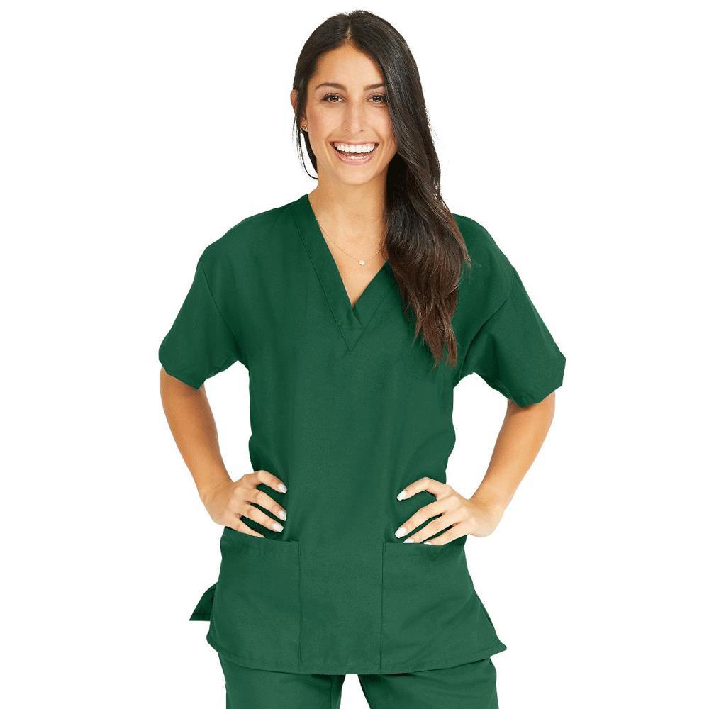 224c9b80239 Medline PerforMAX Ladies V-Neck Tunic Scrub Tops - Evergreen | Protective  Apparels