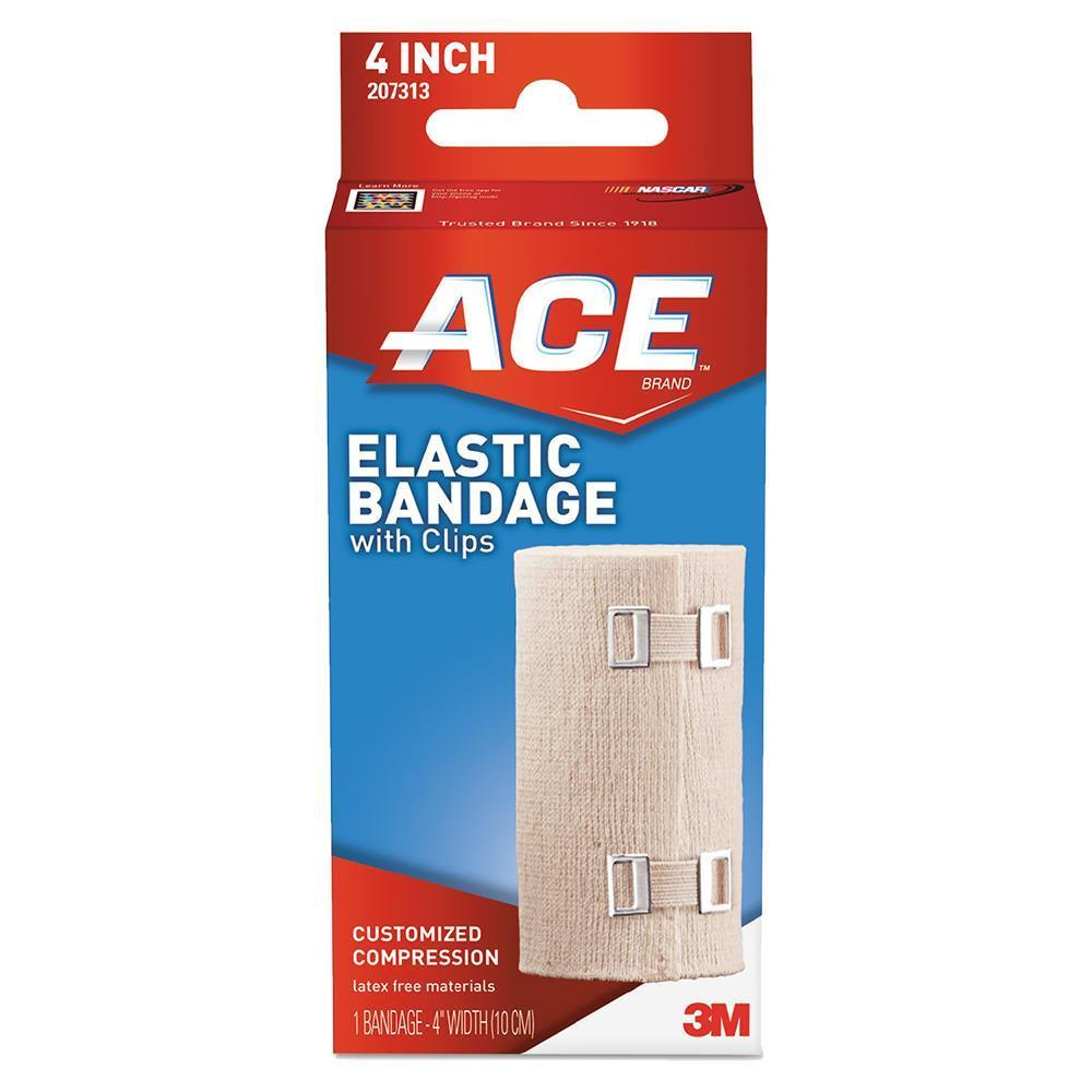 Buy 3m Ace Brand Elastic Bandages With E Z Clip Latex Free