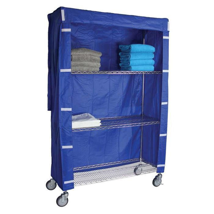 R Amp B Nylon Covers For Four Shelf Wire Linen Carts Medical