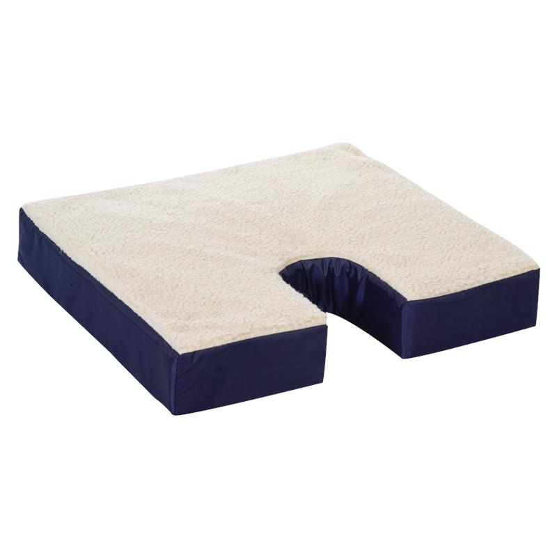 Essential Medical Fleece Covered Coccyx Cushion Seat Cushion