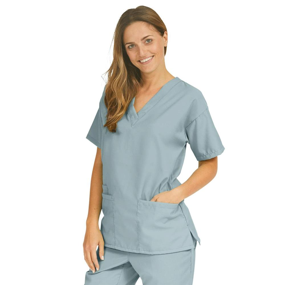 4bd5869d1b0 Medline PerforMAX Ladies V-Neck Tunic Scrub Tops - Misty Green ...