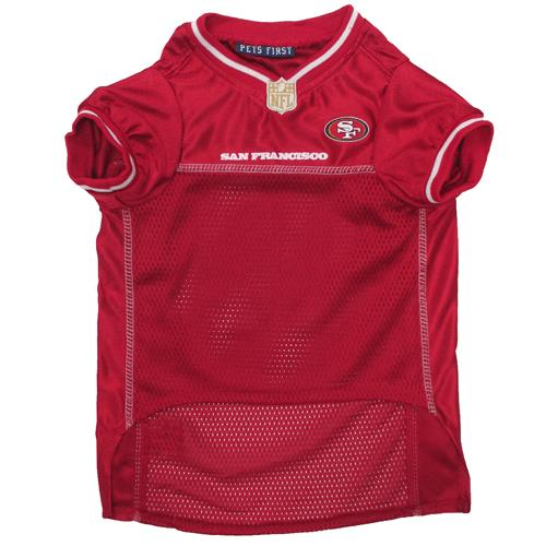 db8a7f174 Pets First San Francisco 49ers White Trim Mesh Dog Jersey