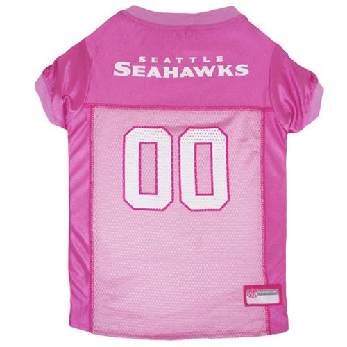 Pets First Seattle Seahawks Pink Mesh Dog Jersey  cf914cc6d