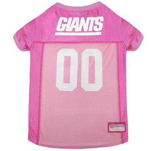 bb85bb721 Pets First New York Giants Pink Mesh Dog Jersey