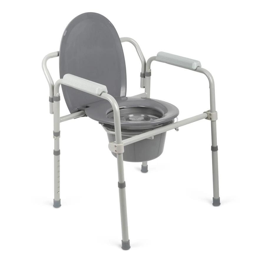 Buy Guardian 3 In 1 Elongated Steel Folding Bedside Commode