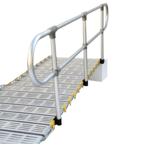 Roll a ramp removable aluminum handrail kit lifts and