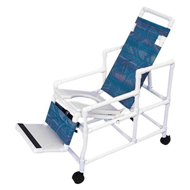 Healthline Fully Reclining Tilt Shower Chair | Rolling Shower ...