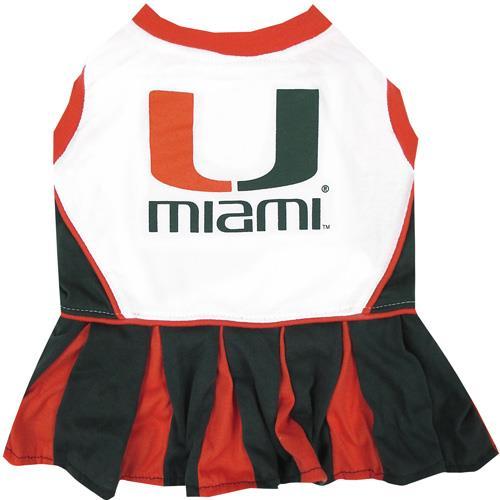 promo code 926f2 4bc1e Pets First Miami Hurricanes Cheerleader Dog Dress