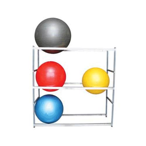 Bosu Ball Standing Desk: Ideal Therapy Ball Storage Floor Stand For Six Balls