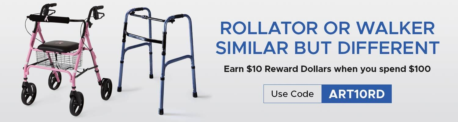 Rollator or Walker: Similar but Different