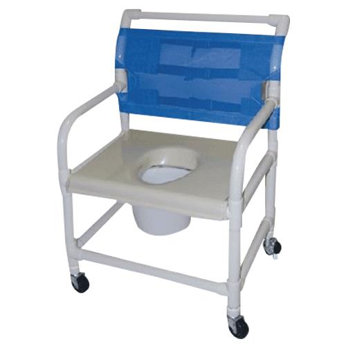 Healthline Shower Chair With Extra Wide 24 Inch Vacuum Formed Seat