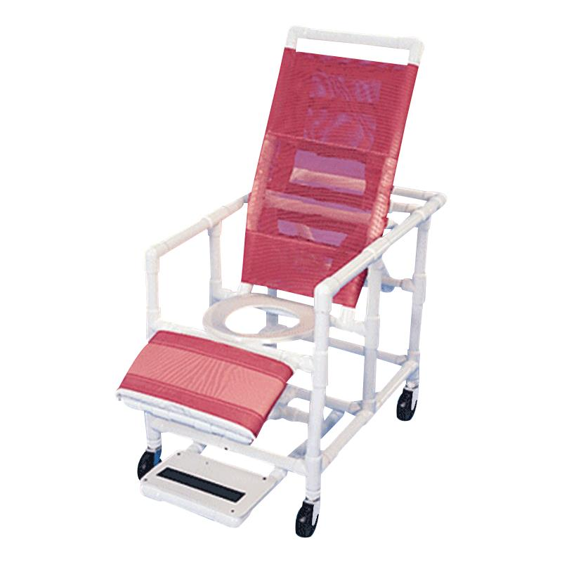 Healthline Reclining Shower Commode Chair With Legrest And