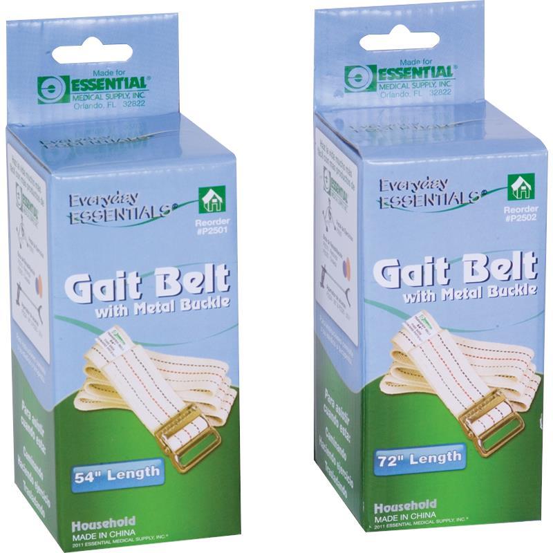 Essential Medical Woven Gait Belt With Metal Buckle Gait