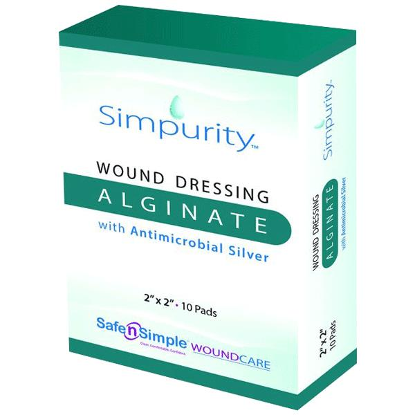 Safe N Simple Simpurity Silver Alginate Wound Dressing ...