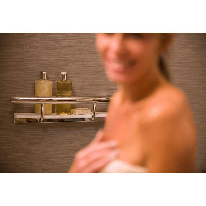 HealthCraft Invisia 2-in-1 Shampoo Shelf With Integrated Grab Bar ...