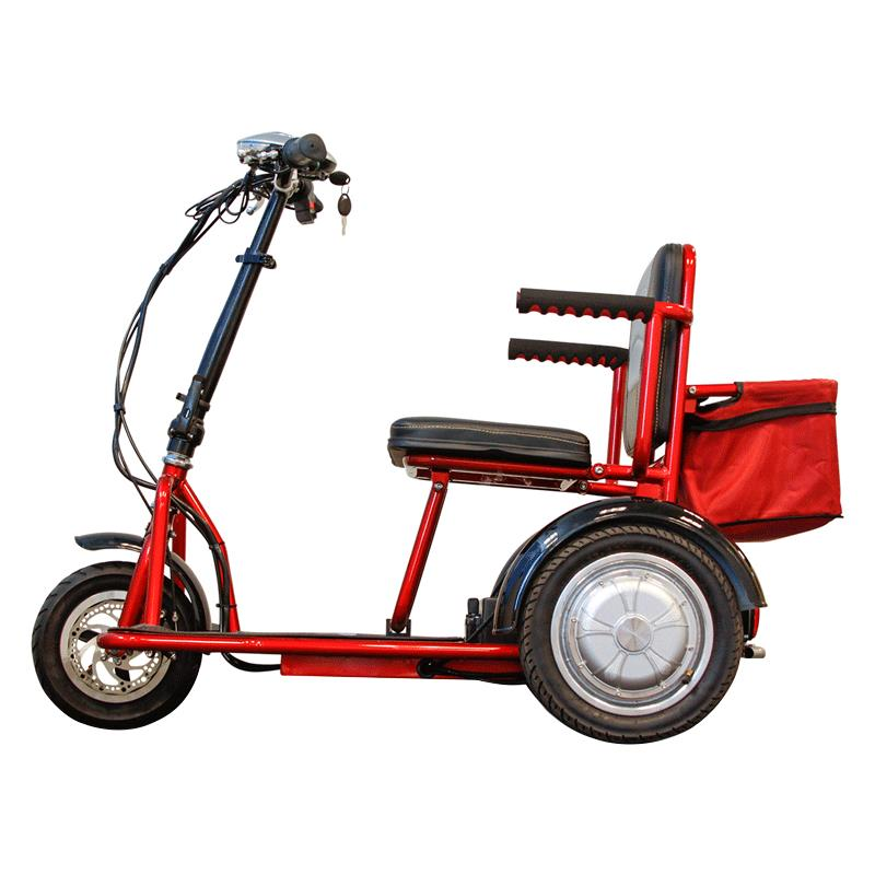 ewheels ew 04 folding mini scooter 3 wheel scooters. Black Bedroom Furniture Sets. Home Design Ideas