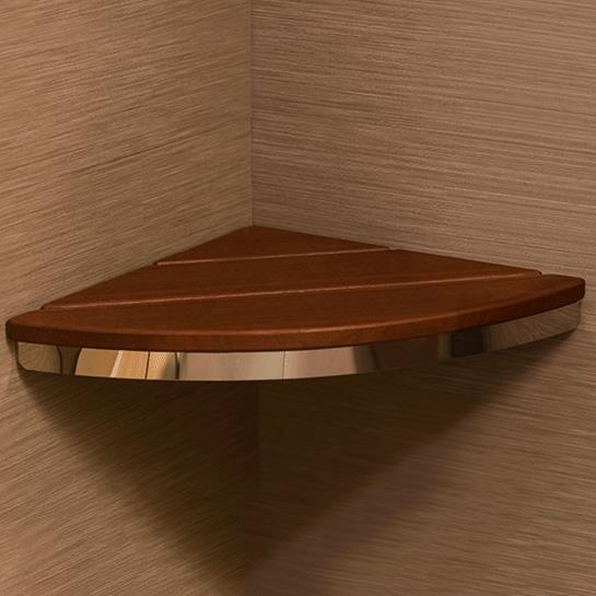 HealthCraft Invisia Bamboo Corner Shower Seat | Shower Chairs