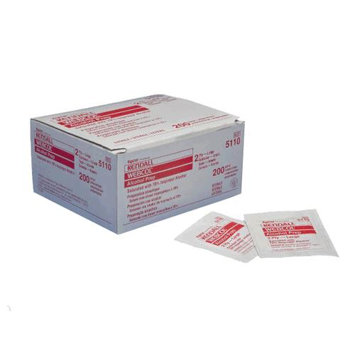 Medtronic Covidien Webcol Alcohol Preps | Prep Pads and Wipes