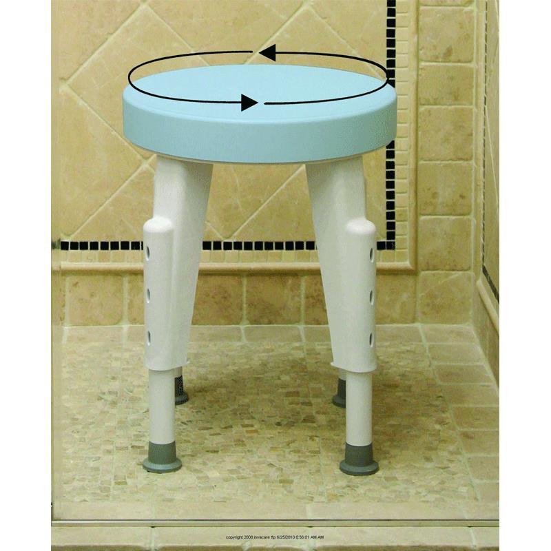 Maddak Rotating Round Shower Stool | Shower Chairs
