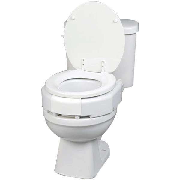 Maddak Secure Bolt Hinged Elevated Toilet Seat Raised