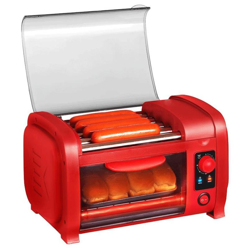 Toaster Oven With Hot Dog Roller