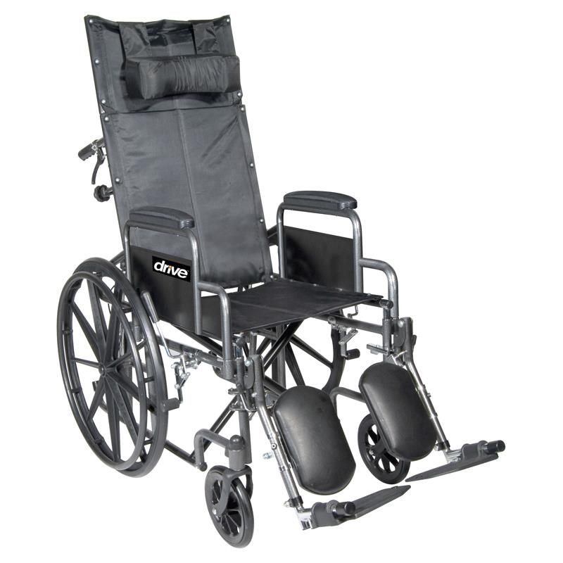 Drive Silver Sport Full Reclining Wheelchair Lightweight