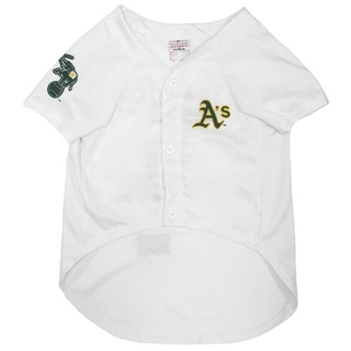 buy popular e14c6 b2fc9 Pets First Oakland Athletics Baseball Dog Jersey