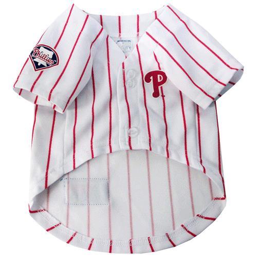 3eab036d872 Pets First Philadelphia Phillies Pinstripe Baseball Dog Jersey